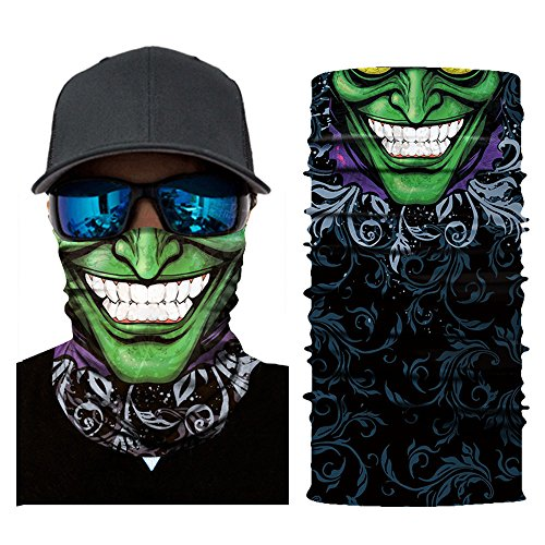 MMLC Fishing Company Face Shield Sturmhaube *viele verschiedene Designs* Multiunktionstuch Maske Fishing Totenkopf Schal Skull Bandana Gesichtsmaske Halstuch Ski Motorrad Paintball Halloween Maske (H)