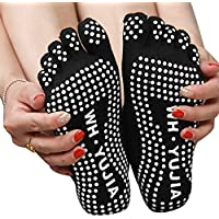 Five Season Yoga Cotton Five Toe Non Slip Dispensing Socks for Women-Black by Five Season