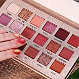 Beauty Glazed Professional The New Nude Palette, 18 Colors Eyeshadow Palette, Multi-Reflective Matte Glitters Pressed Pearl Concealer Base Shades Waterproof Eye Shadow Makeup Pallete