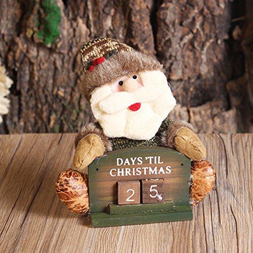Christmas decoration doll, lifeepro natalizie decorazione per la casa soggiorno mestieri decorativi decorazione del desktop natale di babbo natale countdown regali di natale santa claus