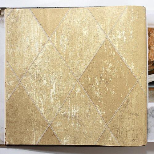 JSLCR Alte Tapete und Retro-Diamant-Box-Stil Zuhause dekorieren die Wohnzimmer-Bar und Restaurant Café Wallpaper zu tun,1054