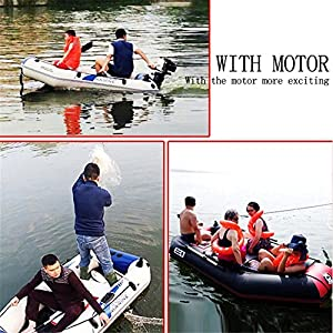 SummerYoung Boat Rubber PVC Inflatable Fishing Kayak Wear Resistant Air Deck Slats Bottom