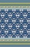 Bassetti 9235536 Tagesdecke, Loto V3, Baumwolle, Sondergrößen 255 x 180 x 0,5 cm, blau in