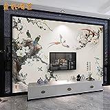 Wandtapete Wanddeko Vlies Tapete Wandbilder 3D Blumen Magnolia Tapete Chinesische Wohnzimmer Schlafzimmer Tv Hintergrund Tapete Wandmalereien Nicht-Tuch Video Walls Gewebt