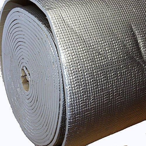 1m² Heizkörper Dämmmatte Akkustik Dämmung Anti Dröhn Matte Bitumen-Ersatz 1x1 m thermisch mit Alu