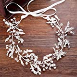 Queen Bride Braut Kopfschmuck Mit Kristall Haarband Handgefertigter Diamant-Schmuck Prinzessin Party Abendessen ZubehöR Weiß