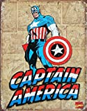 Captain America Panels Tin Sign 16 x 13in by Nostalgic Images