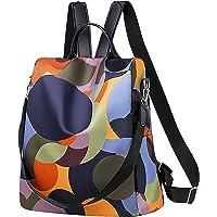 Damen Rucksack Stilvolle Wasserdichte Nylon Anti-Diebstahl Schultertaschen Bunt Bedruckt Lässige Leichte Daypack…