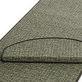 casa pura Läufer | grün gekästeltes Muster | Qualitätsprodukt aus Deutschland | Gut Siegel | Kombinierbar mit Stufenmatten | Viele Breiten und Längen (100 x 200cm)
