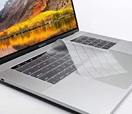 Oaky TPU Keyboard Skin Cover for MacBook Pro with Touch Bar 13/15 inch 2018/2017/2016, Model Number A1706, A1707, A1989, A1990) TPU Clear