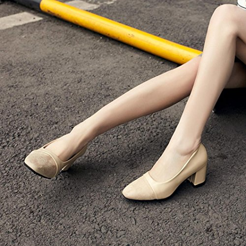 Women Casual Shoes Heel Pointed Wedding Shoes, SOMESUN Moda Elegante Tacco Alto Scarpe A Punta Scarpe Casual Scarpe Da Sposa Donna Khaki