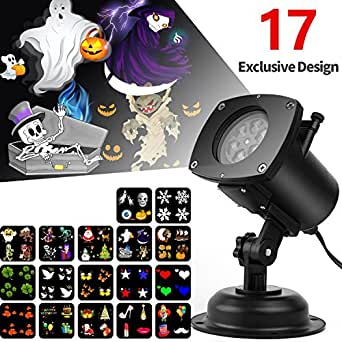 halloween projector light 17 interchangeable slides ip65. Black Bedroom Furniture Sets. Home Design Ideas