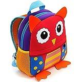 Mochilas Guarderia Pequeños Para Niños y Niñas, AOBETAK Cute 3d Animales Design Bolsos Escolares ,Presente y Regalos Mochila