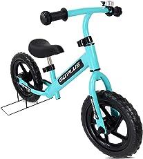 Unbekannt GOPLUS Laufrad 12 Zoll Laufräder Kinderlaufrad Lauflernrad Lernlaufrad Balance Bike mit Fahrradparker Farbwahl ab 3 Jahre (Grün)