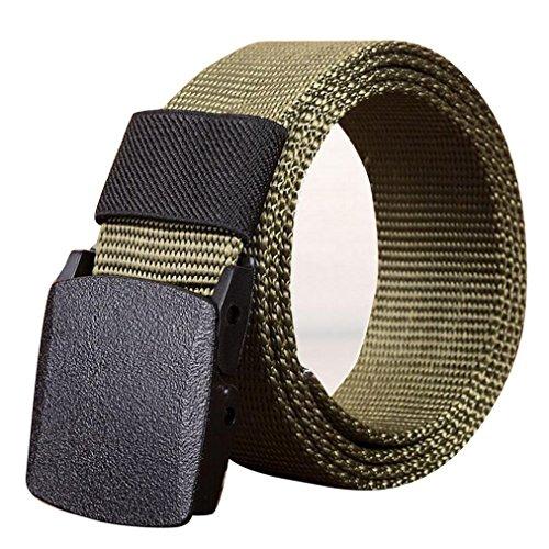 Antike Strauß (FNKDOR Herren Gürtel Stoffgürtel Leinwand Nylon Canvas Sport Belts (120 CM, Militärgrün))
