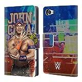 Head Case Designs Offizielle WWE LED Bilder 2017 John Cena Brieftasche Handyhülle aus Leder für Sony Xperia Z5 Compact
