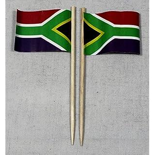 Party-Picker Flagge Südafrika Papierfähnchen in Profiqualität 50 Stück 8 cm Offsetdruck Riesenauswahl aus eigener Herstellung