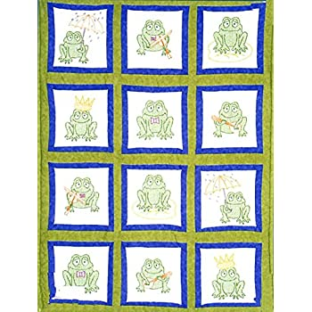"Themed Stamped White Quilt Blocks 9/""X9/"" 12//Pkg-Frogs"