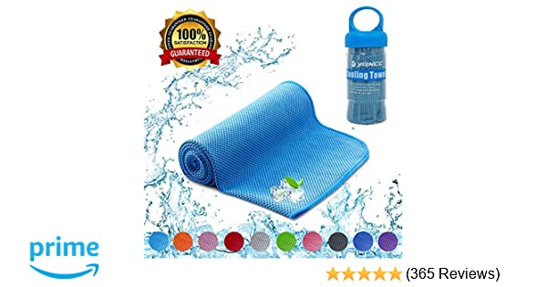 0d87653a0bf32 YQXCC Cooling Towel - Ice Feeling Double Side Soft Skin Friendly 120 ...