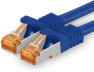 0 25m Cat 7 Netzwerkkabel Blau 1 Stück Gigabit Ethernet Lan Kabel 10000 Mbit S Patchkabel