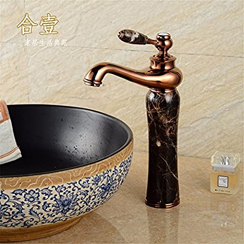 XiaofatYA--L'atmosphère de mode simple moderne durable,Robinet,Banc en pierre naturelle à froid et chaud du bassin bassin d'art en cuivre