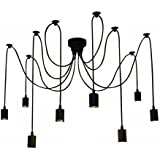 Lixada E27 Douille Rétro abat-jour Suspensions Vintage ajustable base de lampe Douille Lustre plafond Lampe Dining Hall Hôtel