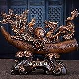 YJ-accessories Dragon und Phoenix Chengxiang Chinesische Ornamente Hochzeitsgeschenke Hochzeit Dekorationen Hochzeitsgeschenke Hause Wohnzimmer Veranda Ornamente