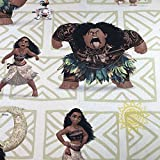 Offizielles Moana NEU PREMIUM-Qualität–100% Baumwolle, feines Geflecht Kinder-Vorhang-Stoff, 140cm Breite–Meterware