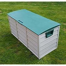 Caja de almacenamiento Home and Garden Products, de plástico, para jardín al aire libre