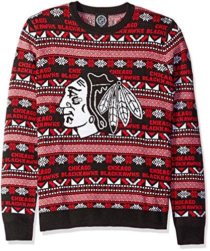 FOCO NHL Herren Pullover 2016 Azteken-Print Ugly Rundhalsausschnitt, Herren, Teamfarbe, Large