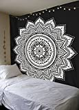 Exklusiven weiß schwarz Ombre Mandala tapestryby labhanshi, Bohemian Wandteppichen, Wand -