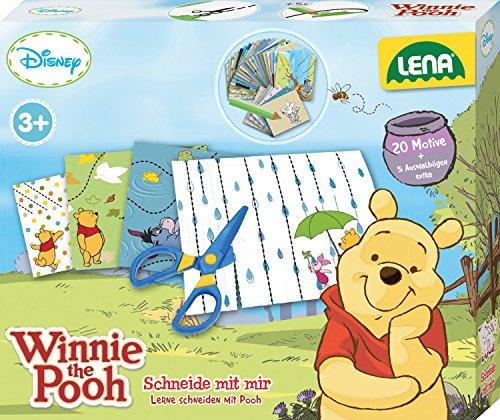 Lena 42637 - Bastelset Lernspiel Disney's Winnie The Pooh Schneide mit mir
