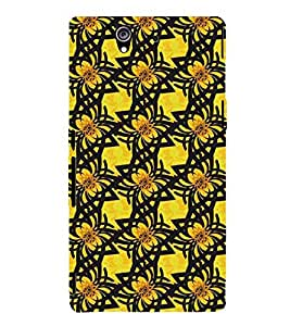 EPICCASE Yellow Flower Mobile Back Case Cover For Sony Xperia Z (Designer Case)