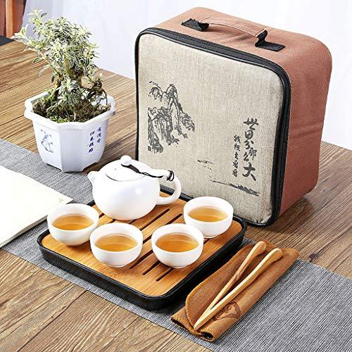 Handgemachte tragbare Kung Fu Tee-Set, Tee-Set im chinesischen Stil, Reisen Tee-Set mit Teetasse, Teekanne