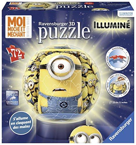Ravensburger - 12180 - Puzzle Minions 72 pièces + socle lumineux