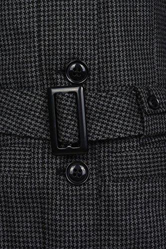 Jacke mit Gürtel Damen von Flashlights in Anthrazit Grau