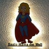 Geschenk für Mama Sohn Tochter Geschenke für die Beste Mutter der Welt zum Geburtstag Muttertag Weihnachten I Led Leuchte Heldin des Alltags