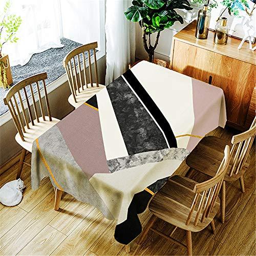 chdecke wasserdicht Rechteckige Baumwolle Tischdecke Esstisch Abdeckung Home Halloween Dekoration F 150x300cm ()