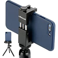 Ulanzi ST-02S Newest Aluminum Phone Tripod Mount w Cold Shoe Mount, Support Vertical and Horizontal, Universal Metal…