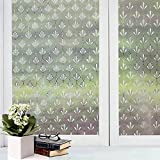 Bfeplfashion Decorative Privacy Frosted Window Glass Film Sticker Home Bathroom Waterproof - 5#