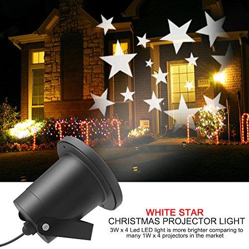 Proyector de Estrellas, Dreamix 3W x 4 LED Súper brillante Lámpara Luz Efecto Movimiento decoración IP65 Impermeable al aire libre o interior para Navidad, Halloween, Fiesta, Niños, Jardín, Cumpleaño