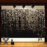 #10: Alcoa Prime 7x5ft Black Glitter Halo Spot Bling Backdrop Photography Studio Background Props