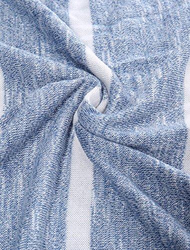 Allegra K Femme À Rayures Chevron Haut Tunique Imprimé blue