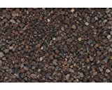 Natural mente–Lava, Lava ghiaia pietre, grana 8–18mm, 1Sacco da 15kg, Pietra naturale granulato, ciottoli, ghiaia, pacciame decorativa da giardino, fiori, acquario, 15kg, 8–18mm