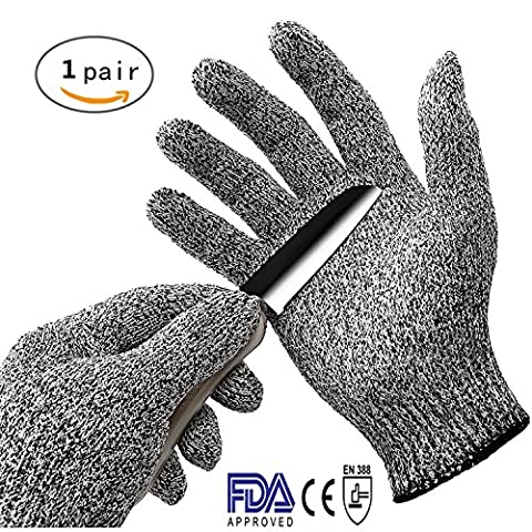 Sohv Cut Resistant Gloves - High Performance Level 5 Protection, Food Grade, EN388 Certified, Safty Gloves for Hand Protection and Yard-work, Kitchen,1