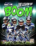 Seattle Seahawks The Legion of Boom Composite - Earl Thomas Richard Sherman Kam Chancellor Byron Maxwell Photo Print (27,94 x 35,56 cm)