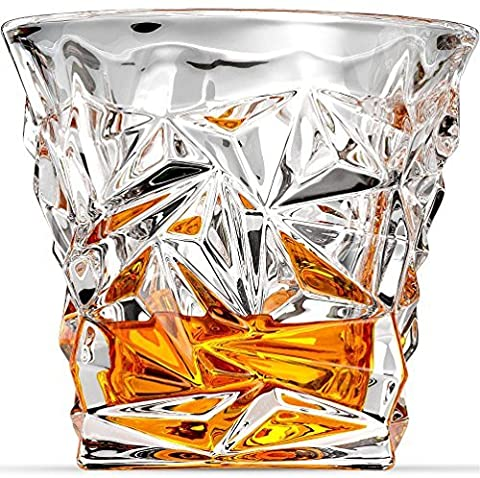 Diamond-Cut Whiskey Glasses, Scotch Glasses By Ashcroft Glass - Set Of 2. by Ashcroft (Sterling Silber Decanter Label-)