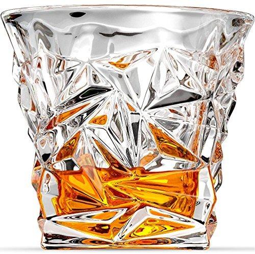 Diamante de vasos de Whisky, vasos de Scotch by Ashcroft Cristal–Set de 2.
