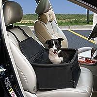 Funda Protector de Coche para Perros Funda Asiento para Mascota Cubierta de Asiento de Perro Hamaca Impermeable y Resistente, Asiento de Copiloto para Mascotas para Todo el Coche, SUV, 40x30x25CM