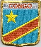 CONGO República Democrática popular bandera parche bordado (cy011)